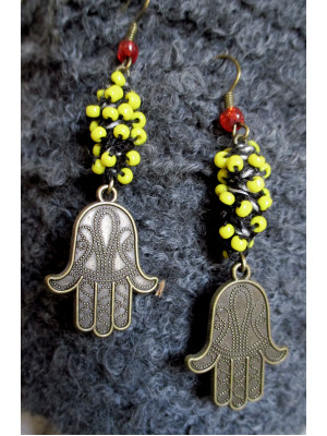 Hand of Fatima earring