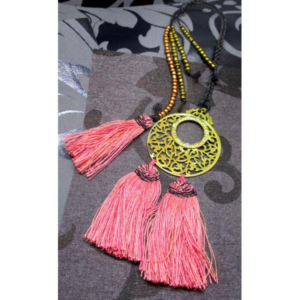 Bookmark ... Metal ornament with tassels