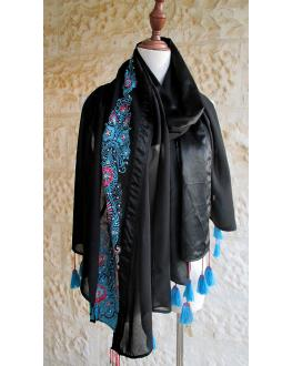 Long black shawl