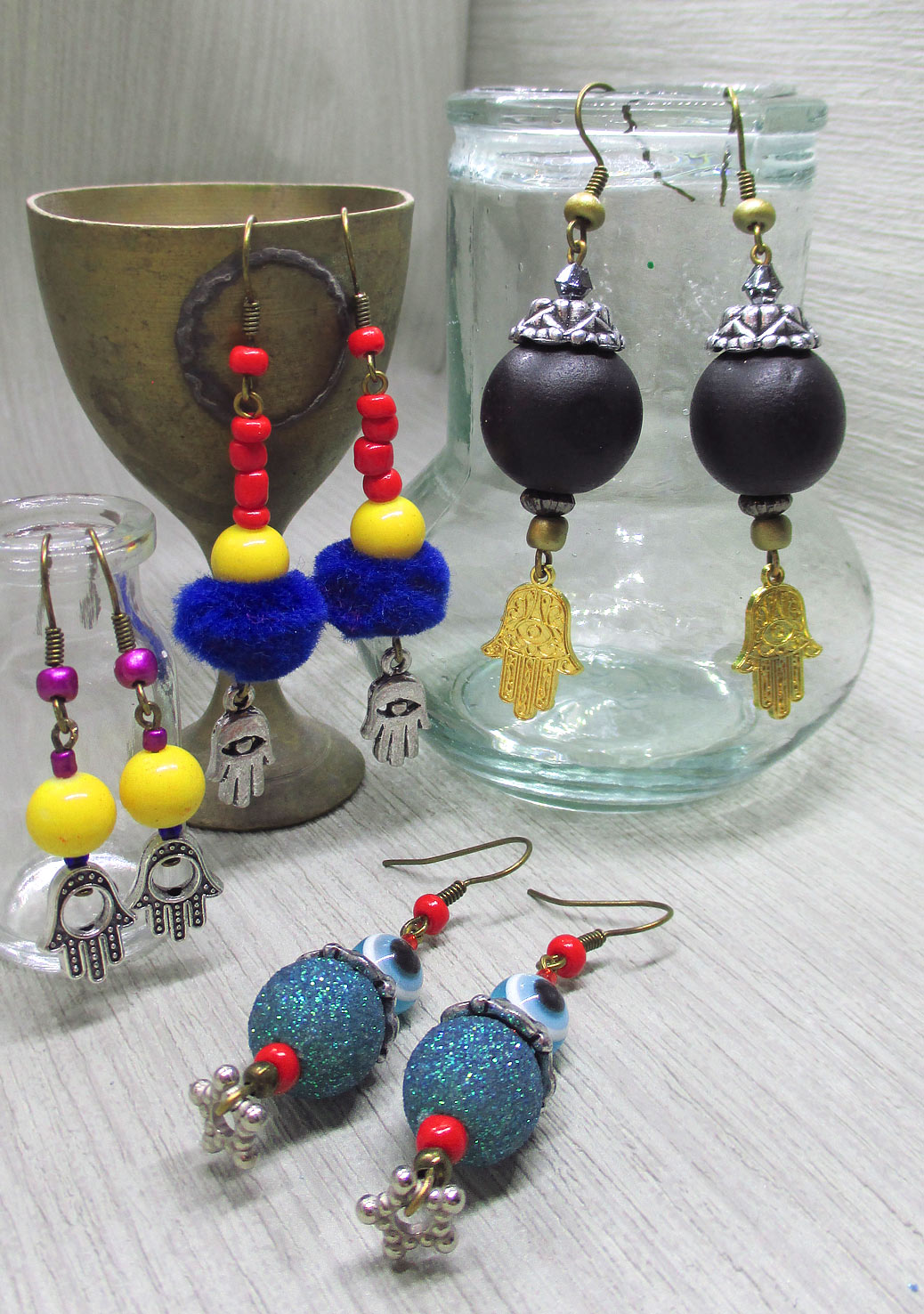 Hand of Fatima 4 earrings