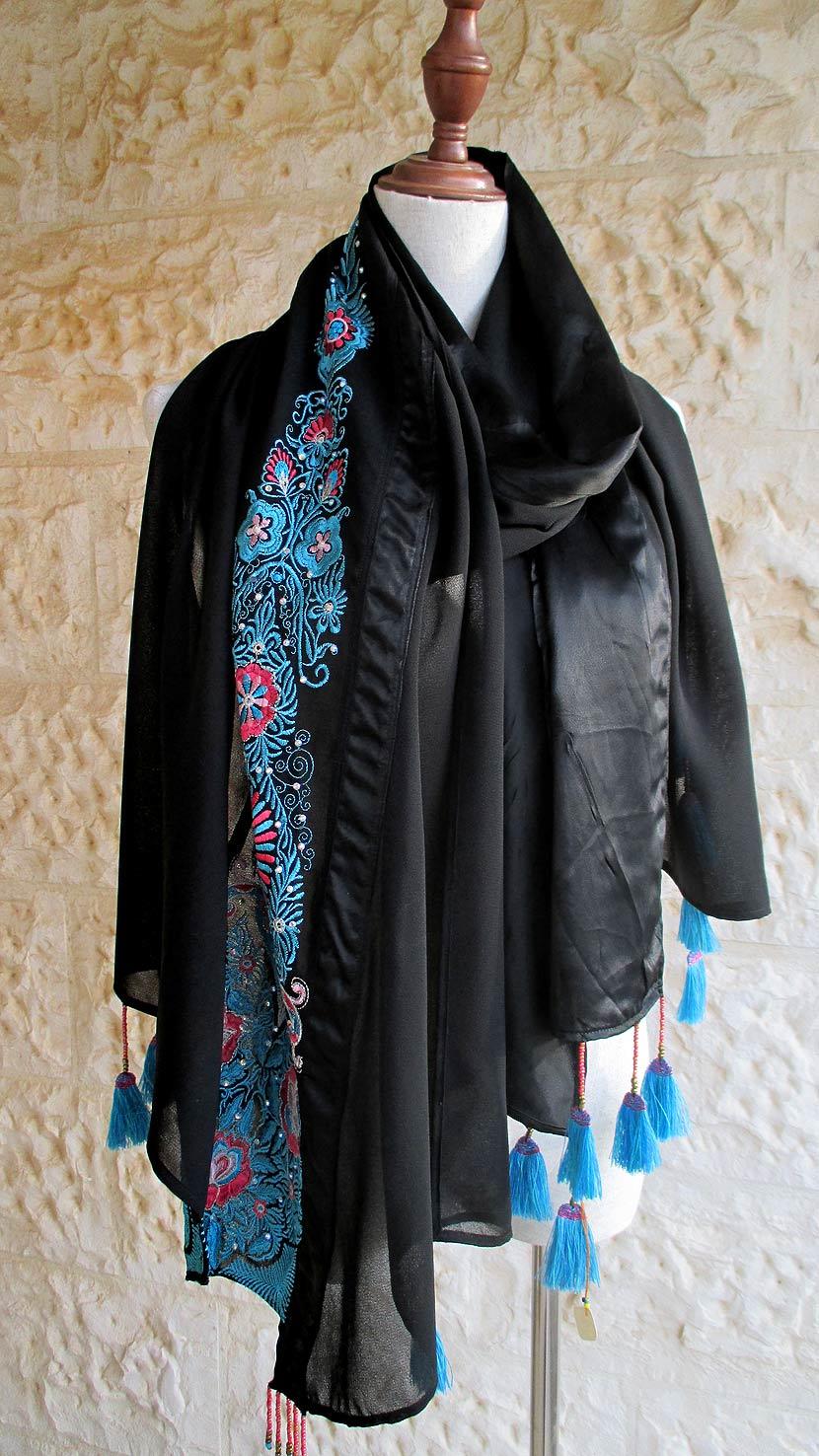 Long black shawl